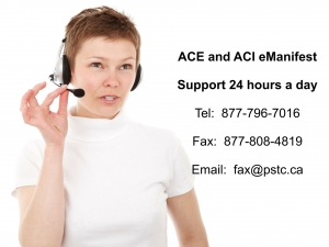 Contact information for ACE and ACI eManifest solutions 877.796. 7016