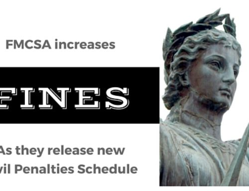 FMCSA moves forward with updating it's civil penalty schedule