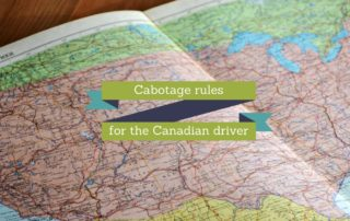 Cabotage rules for the Canadian driver