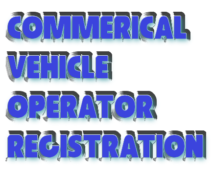 Commerical Vehicle Operator Registration
