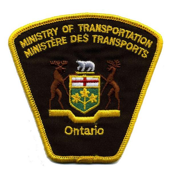Ministry of transportation badge