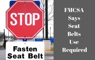 new seat belt rules for trucks