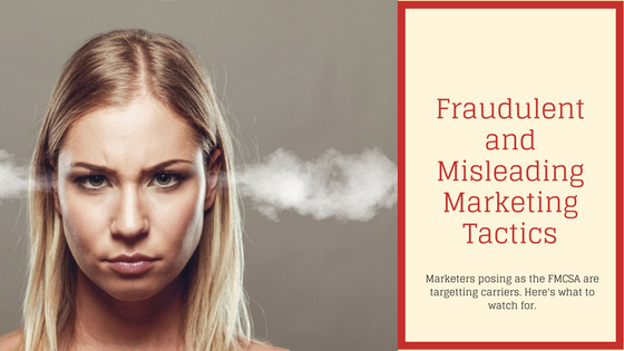 Fraudulent marketers and misleading marketers impersonating the FMCSA