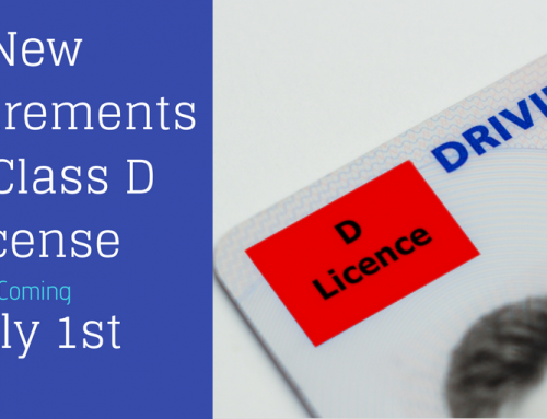New Requirements for Class D License as of July 1, 2018