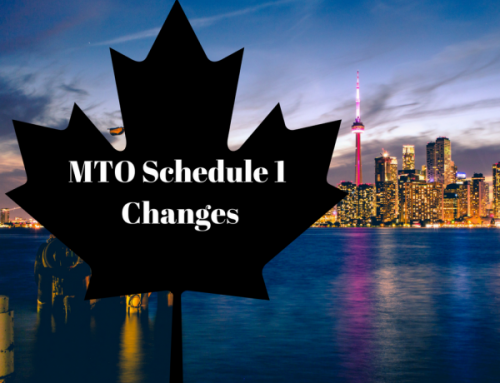 Ontario Ministry of Transportation Adds a Change to MTO Schedule 1