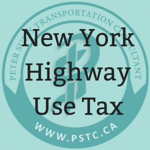 New York Highway Use Tax