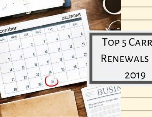 Carrier Renewals: Top 5 Renewals for Fleets.