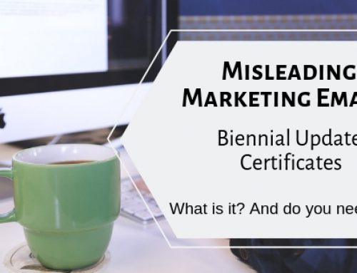 The latest in Misleading Marketing: Biennial Update Certificates