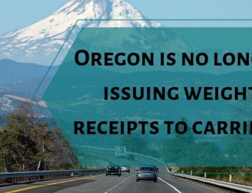 Oregon is no longer issuing weight receipts to carriers.