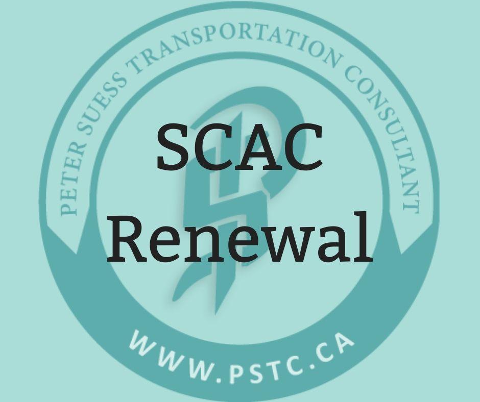 SCAC renewal