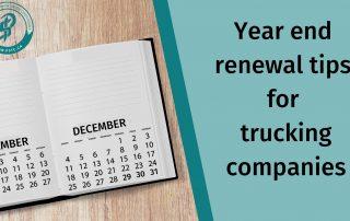 trucking renewals