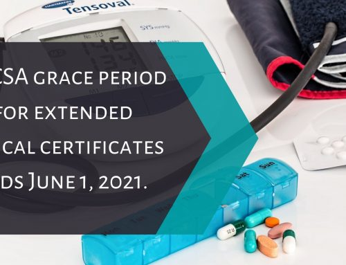 FMCSA grace period for extended medical certificates ends June 1, 2021.