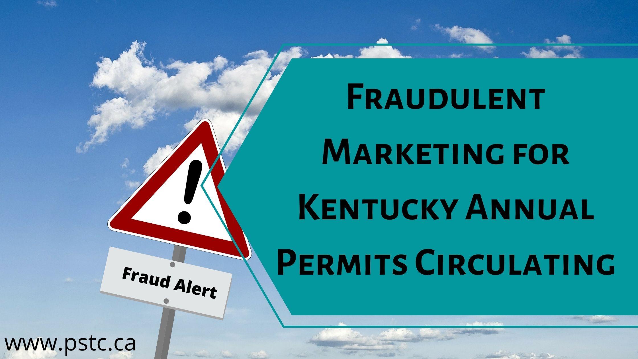 Fraudulent Marketing for KYU Annual Permits Circulating